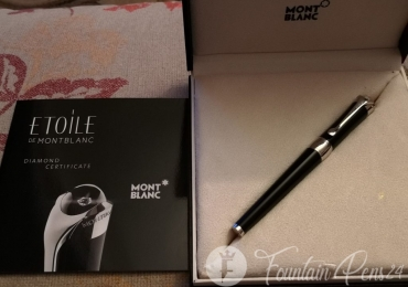 MONTBLANC Etoile de Montblanc Diamond Fountain Pen Estilográfica