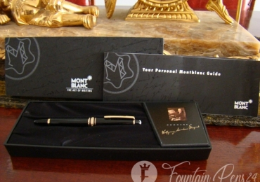MONTBLANC HOMMAGE A WOLFGANG AMADEUS MOZART FOUNTAIN PEN GOLD