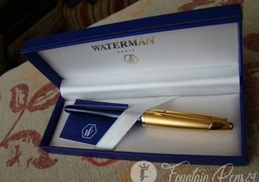¡¡ sold !!  Waterman Edson Sapphire Blue Gold GT Fountain Pen