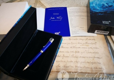 MONTBLANC Writers Edition Jules Verne FOUNTAIN PEN ESTILOGRAFICA Nib F NEW