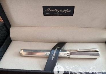 """Montegrappa Reminiscence Octagonal 925 Sterling Silver 1055 VI Fountain Pen Estilografica """"NEW"""