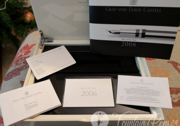 Graf Von Faber Castell BOX pen year 2006 only BOX & Papers Caja y Papeles