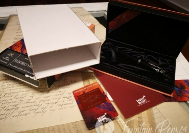 MONTBLANC WRITERS EDITION 1993 AGATHA CHRISTIE FOUNTAIN PEN ESTILOGRAFICA NIB F NEW