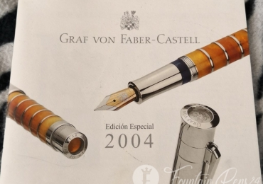 GRAF VON FABER CASTELL LIMITED EDITION Year 2004 FOUNTAIN PEN BOOK PAPERS DOCUMENTS LIBRILLO