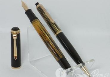 NR MINT 60´s PELIKAN 400 fountain pen tortoise 14ct flexy M nib & pencil