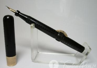 MINT antique CONKLIN CRESCENT No 20 BCHR fountain pen flexy M nib crisp chasing