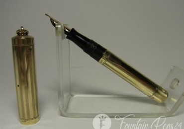 1920´s 14ct gold WATERMAN´S 552 1/2 V fountain pen flexy M nib Freshly serviced
