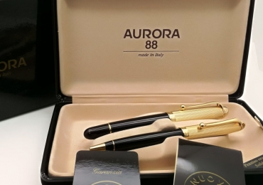 Aurora 88 set – Big size FP and BP – gold plated cap – never used – 14kt goldnib