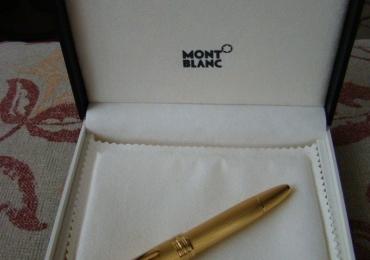 Montblanc Meisterstuck Solitaire Gold 146 Legrand Barley Vermeil Fountain Pen
