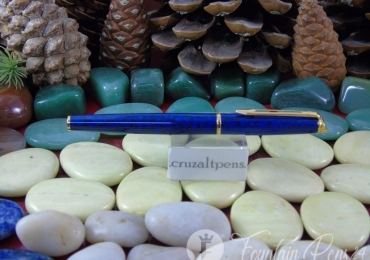 FOUNTAIN PEN WATERMAN HEMISPHERE AZUL MARMOLIZADO
