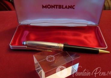 Montblanc Meisterstuck Solitaire Doue 925 SILVER BLACK BALLPOINT PEN