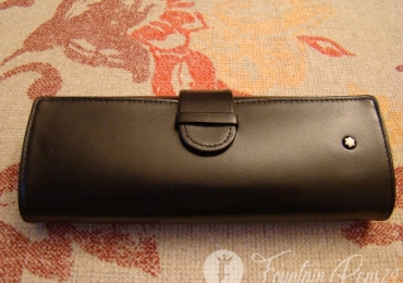 Montblanc Meisterstruck Black Leather Pouch Case for 3 pens