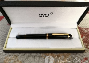 Vintage Montblanc Meisterstuck 146 LeGrand black & Gold Fountain Pen Nib 14K Monotone Core Ebonite