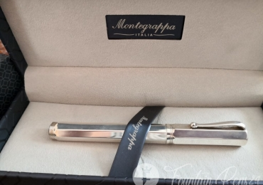"Montegrappa Reminiscence Octagonal 925 Sterling Silver 1055 VI Fountain Pen Estilografica ""NEW"""