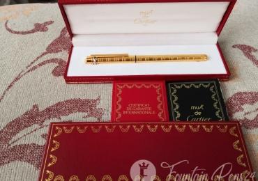 CARTIER le must de Cartier Gold Fountain Pen Nib F 18k 750