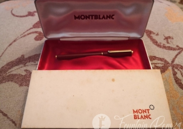 Montblanc Slimline Noblesse Vintage Fountain Pen Burgundy Red and Gold estilografica