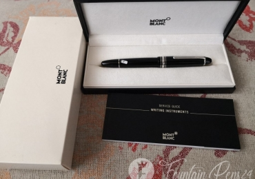 ¡¡ SOLD !!  Montblanc Meisterstuck LeGrand 146 Black Platinum Trim Fountain Pen Nib F