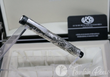 "Fountain pen Urso Luxury ""The Lion King "" SOLID SILVER 925 LIMITED EDITION"