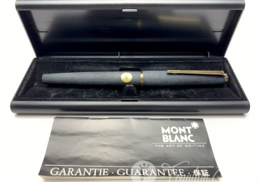 Vintage Montblanc 220 Matte Black Brushed Finish Fountain Pen