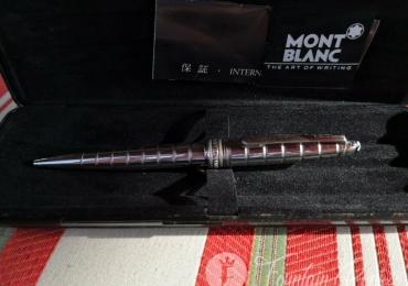 Montblanc Meisterstück Solitaire Platinum-Plated Facet Classique Ballpoint Pen